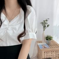 Both V-neck string blouse