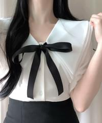 Lance Big Cara Ribbon Blouse