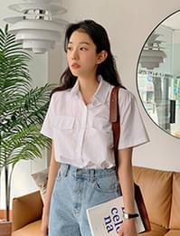 Mild cropped short-sleeved shirt
