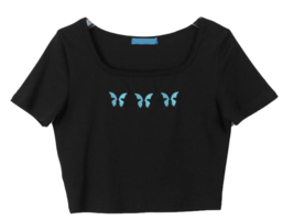 Square Patch Butterfly T-shirt