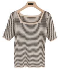 Square striped t-shirt 短袖上衣