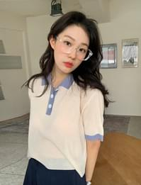 Ritz color combination short sleeve knit