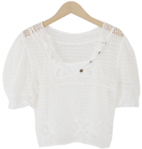 Anna netting puff knit