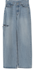 Sidecut Wash Denim Pants
