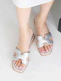 Laia leather slippers 1,3cm