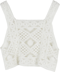 Knitted bustier top
