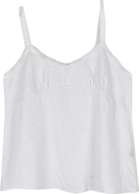 Lace linen sleeveless