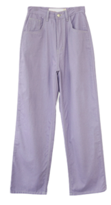 kitsch color cotton pants
