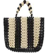 Blanc Noir Wood Tote Bag