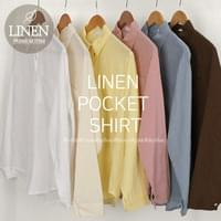 Mona Linen Pocket Shirt