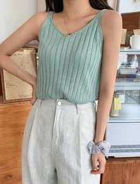 Soft V-neck Ribbed Sleevey
