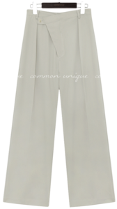 RUMA UNBAL BUTTON WIDE SLACKS