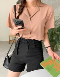 Soft open collar shirt