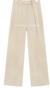 REVE LINEN BELT LONG SLACKS