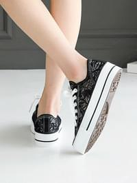 Itelon lace-heeled trainers 4 cm