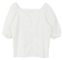 Flower cropped blouse 襯衫