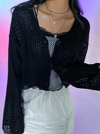 Crop Niju See-through Cardigan