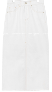 DAMAGE SLIT COTTON LONG SKIRT