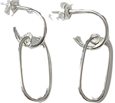 (silver925) crown earring