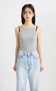 Morning Basic Ribbed Sleeveless Top