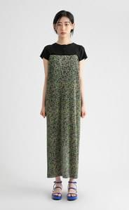 Camellia pleated floral maxi dress