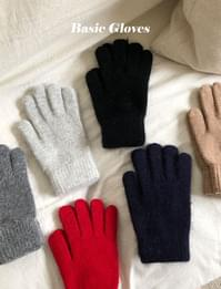 Bow wool gloves