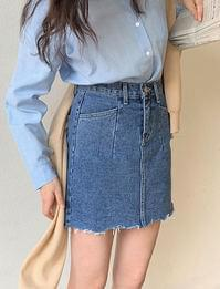 Lowy denim mini skirt