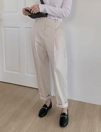 Leo pintuck cotton pants