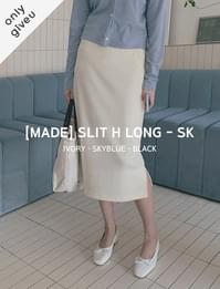 Slit H long skirt
