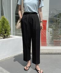 Cool off belt wide slacks