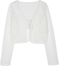 Antique lace open strap see-through cardigan 開襟衫