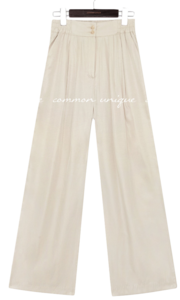 JELLIS SATIN BANDING WIDE PANTS