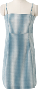 Gingham check mini dress