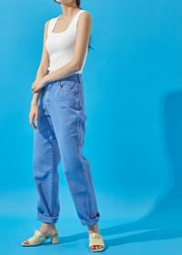 Color cotton long pants