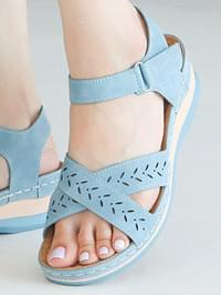 Retract Velcro Strap Sandals 5cm