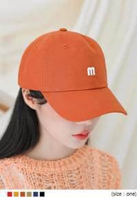 Embroidered Letter Ball Cap