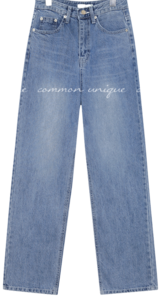 CHEMI WASHING LONG DENIM PANTS