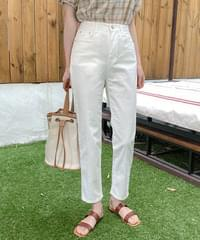 Ivory Straight Fit Summer Cotton Pants