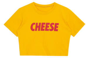 Cheese Crop Top