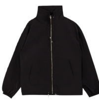 Cord-Lock Detail High Neck Jacket
