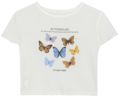 Butterfly Shirring Short Sleeve