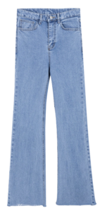 118 long high denim pants