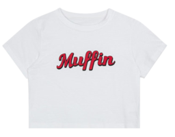 MUFFIN Print Crop T-Shirt