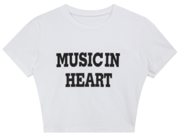 Music crop short sleeve