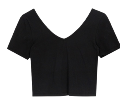 Wide Neck Slim Crop Top