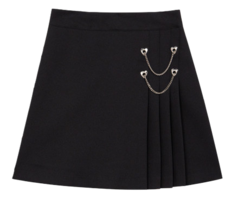 Heart Chain Pleats Skirt