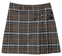 Lonely Unbal Check Skirt