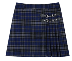 Lonely Unbal Check Skirt 裙子