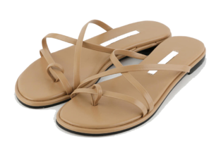 Peer toe hold flat sandals