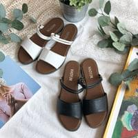 919 1-line two-way flat sandals